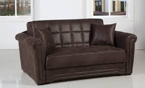 chocolate specially treated microfiber modern loveseat bed