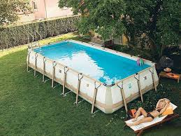 Backyard Above Ground Pool by 40 Uniquely Awesome Above Ground Pools With Decks Ground Pools