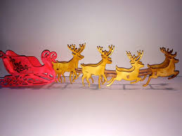 Xcut Large Dies Christmas Decorations by Reindeer And Sleigh 3d Die Cut Piece Docrafts Com