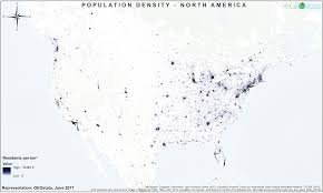 Population Density Map Population Density Map Of North America 3353x2009 Mapporn