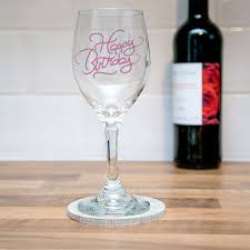 birthday drink wine personalised engraved happy birthday wine glass i just love it