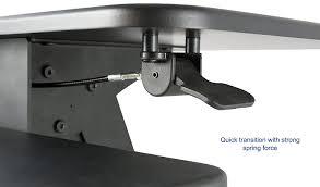 amazon com vivo black height adjustable standing desk gas spring