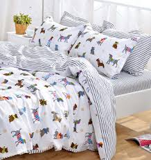Duvet Protector King Size Yoyomall Cotton Cartoon Dog Bedding Set Cute Puppy Duvet Cover Set