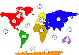 map continents oceans and continents map quiz by mr egan