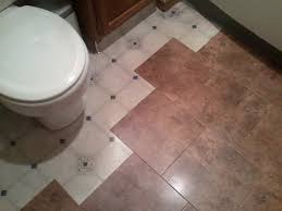bathroom floor after using peel and stick tile on kitchen excerpt