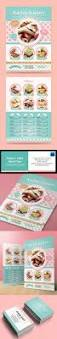 pastry cake flyer business card template design download