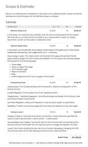 District Manager Sample Resume by Sample Estimate Executionists Web Design Development And