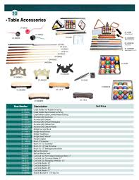 pool table accessories cheap billiard accessories and component parts catelog db entertainment