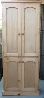 Wooden Storage Closet With Doors Furniture Rectangle White Wooden Storage Cabinet With