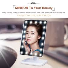 Makeup Vanity Mirror Ovonni Led Touch Screen Makeup Mirror 20 Leds Make Up Cosmetic