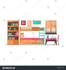 Toddler Room Floor Plan by Flat Style Vector Illustrationchildren Game Sleep Stock Vector