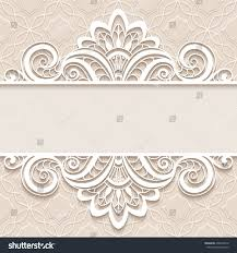 background border lace ornament divider stock vector