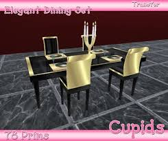 gold dining table set second life marketplace elegance black gold dining table set