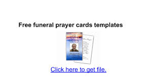 sle funeral programs free funeral prayer cards templates docs