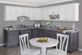 kitchen cabinets gray bottom white top showroom rentown in white slate kountry cabinets