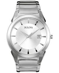 mens stainless steel bracelet watches images Bulova men 39 s stainless steel bracelet watch 38mm 96b015 watches tif