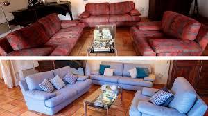 peindre canapé en tissu peindre canapé en tissu transformation du salon