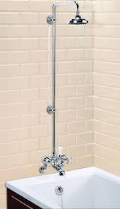 Bathroom Shower Mixer Wall Mounted Bath Shower Mixer With Rigid Riser Arm 6in