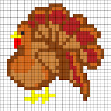 turkey thanksgiving perler bead pattern crafts
