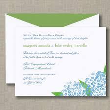 truly watercolor hydrangea bright white wedding invitation all