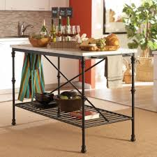 coaster french bistro style kitchen island with faux marble top