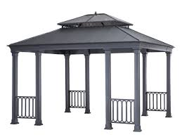 Sunjoy Industries Patio Heater by Sunjoy 12 Ft W X 14 Ft D Metal Permanent Gazebo Wayfair
