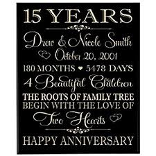 15th anniversary gift ideas for him personalized 15 year anniversary gift for