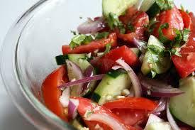 rah cha chow dinosaur bbq tomato cucumber salad