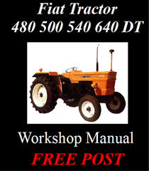 fiat tractor 480 500 540 640 plus dt tractor workshop manual on cd