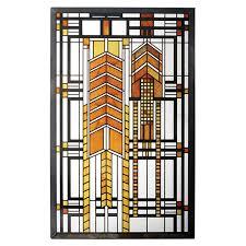 frank lloyd wright home decor autumn sumac frank lloyd wright art glass stained glass art dana house