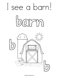 barn coloring pages twisty noodle
