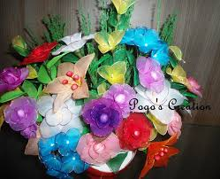 Flowers With Vases Pogo U0027s Creation Nylon Stocking Flower Vase