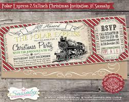 Cowboy Christmas Party Invitations - polar express christmas party invitation instant download