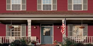 popular house exterior color schemes with crab apple and blue gray