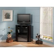 Tv Stand Furniture Amazon Com Visions Tall Corner Tv Stand In Black Kitchen U0026 Dining