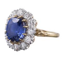 ring diana princess diana style sapphire diamond cluster ring at 1stdibs