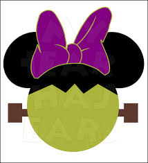 mickey mouse ears spirit halloween minnie mouse frankenstein instant download halloween digital clip