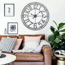 wall clocks the rustic cabinet and the huge clock love it ive