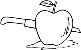 The Best Way To Cut An Apple Coloring Page Coloring Sky Cut Coloring Pages