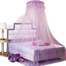 purple bed mosquito net canopy kids queen bedroom curtains