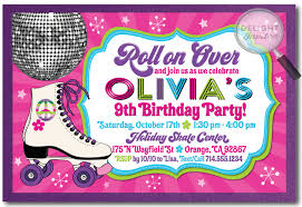 party invitation cards roller skating birthday party invitations