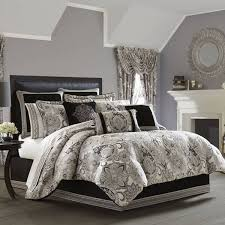 Rose Tree Symphony Comforter Set Black U0026 White Bedding Comforters Quilts U0026 Bedspreads
