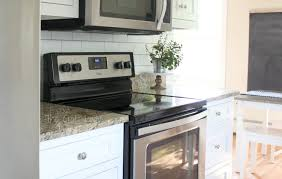 Kitchen Backsplash For Renters - white subway tile temporary backsplash the full tutorial the