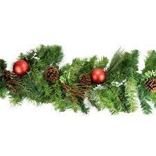 Pre Decorated Christmas Garland Holly Garland Wayfair