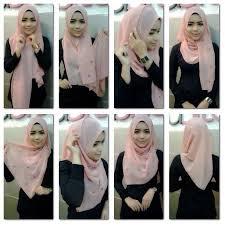 tutorial hijab segitiga paris simple hijab jilbab segitiga hijab style 6