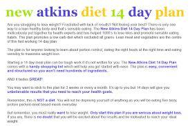 atkin diet meal plan 14 days diet plan for weight loss