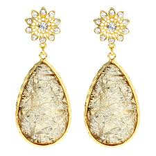 gold teardrop earrings earrings amrita singh cassia springs gold teardrop