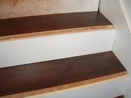 7 installing laminate flooring on the stair treads