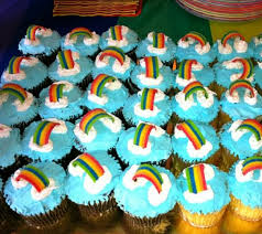 rainbow cupcakes baked by publix decorated by laurie bryson
