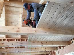 diy loft floor wood ceiling for our alaska lake cabin white